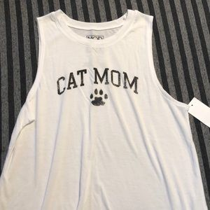 NWT Cat Mom Muscle Tank